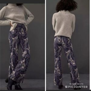 Anthropologie Maeve Maria Knit flare leg trousers